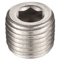 ¼ inch NPT galvanized merchant steel hex head counter sunk plug