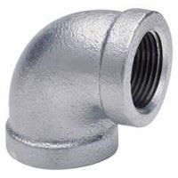 ⅛ inch NPT threaded 90 deg galvanized elbow