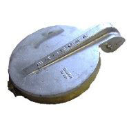 exhaust rain cap flapper aluminum 12-3/4