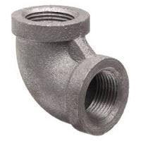 ⅜ inch NPT threaded 90 deg malleable iron elbow