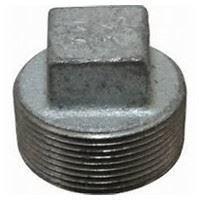 1 ½ inch NPT malleable iron square head plug