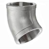 ⅛ inch NPT threaded 45 deg 316 Stainless Steel elbow