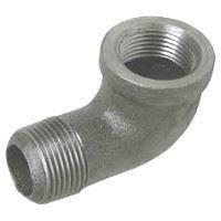 ⅛ inch NPT threaded 90 deg malleable iron street elbow