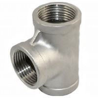 Picture of 4 inch NPT Class 150 Stainless Steel Straight Tee
