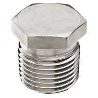 Picture of ⅜ inch NPT Class 150 304 Stainless Steel hex head plug