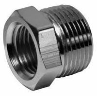 Picture of 1 x ⅜ inch NPT 304 Stainless Steel Reduction Bushings