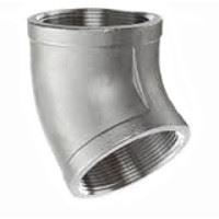 Picture of 1/8 inch NPT threaded 45 deg 304 Stainless Steel elbow