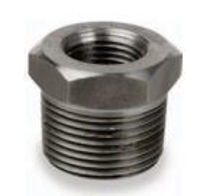 Picture of ⅜ x ⅛ inch NPT forged carbon steel class 3000 threaded reducing hex bushing