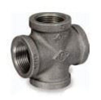 Picture of 1 inch NPT class 150 galvanized malleable iron cross