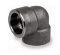 Picture of 2 inch 90 degree forged carbon steel socket weld elbow