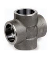 Picture of 1 ½ inch forged carbon steel socket weld cross