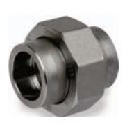 Picture of 1 ¼ inch forged carbon steel socket weld union