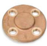 Picture of 6 inch NPT Threaded Class 150 Bronze Blind Flange