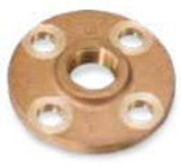 Picture of 1-1/2 inch NPT Threaded Class 150 Bronze Theaded Flange