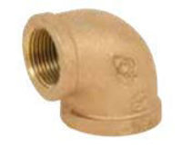 Picture of 2 ½ inch NPT Threaded Bronze 90 degree elbow