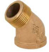 Picture of 1 ¼ inch NPT Threaded Bronze 45 degree street elbow