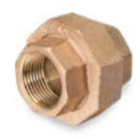 Picture of ¼ inch NPT threaded bronze union