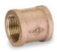 Picture of 3/8 inch NPT threaded bronze full coupling