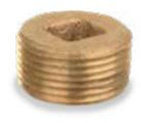 Picture of 1 inch NPT threaded bronze square countersunk head plug