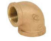 Picture of ¼ inch NPT Threaded Lead Free Bronze 90 degree elbow