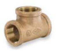 lead free bronze NPT threaded class 125 straight tee
