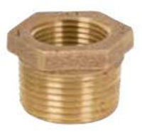 Picture of ¾ x ¼ inch NPT threaded lead free bronze reducing bushing