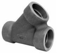 Picture of 1-1/4 inch NPS class 3000 forged carbon steel socket weld lateral