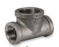 Picture of 2-1/2 x 3 inch malleable iron class 150 bull head tee